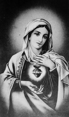 The Immaculate Heart. Want this as a half sleeve