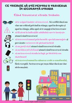 #Parenting #Infographic #download #prin #free #educație #părinți #copii Ce trebuie să știe un copil pentru a traversa în siguranță strada Kids And Parenting, Parenting Hacks, School Lessons, Outdoor Play, After School, Raising Kids, Kids Education, Alter, Motto
