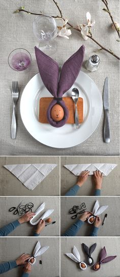 ▷ 1001 + Ideen und Anleitungen, wie Sie Osterdeko selber machen Easter table decoration to imitate, Easter bunny made of egg and cloth, drawing a face, instructions for Easter crafts Easter Dinner, Easter Party, Easter Gift, Easter Crafts, Happy Easter, Easter Bunny, Easter Eggs, Easter Ideas, Bunny Bunny