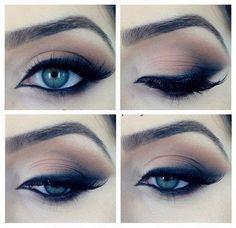 Iets teveel eyeliner aan de binnenkant van het oog, maar wel dramatisch genoeg voor een feestje ofzo :)