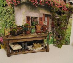 Hey, I found this really awesome Etsy listing at https://www.etsy.com/listing/183476887/mini-potting-tablefilled-doll-house