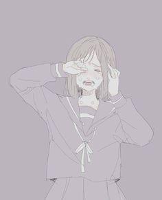 Manga Drawing, Drawing Eyes, Manga Art, Manga Anime, Sad Anime Girl, Kawaii Anime Girl, Anime Art Girl, Reference Manga, Anime Crying