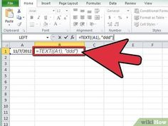 How to Calculate the Day of the Week in Excel. You've just entered a bunch of dates into your Excel spreadsheet, but what you really want to see is what day of week those dates happen on. Fortunately, Excel makes it easy to calculate the. Computer Help, Computer Technology, Computer Programming, Computer Tips, Computer Logo, Medical Technology, Energy Technology, Excel Tips, Excel Hacks