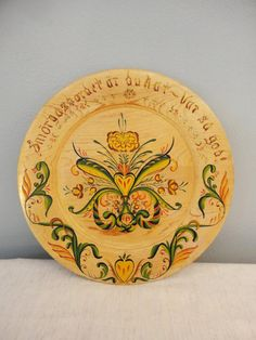 Vintage Scandinavian Wood Plate Tray Smorgasbord by coleuscottage, $28.00