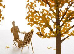 【楽天市場】【メール便発送】 かみの工作所 TERADA MOKEI 1/100建築模型用添景セット No.24 街路樹編イチョウ テラダモケイ:WONNDER3 楽天市場店