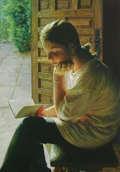 ✉ Biblio Beauties ✉ paintings of women reading letters & books - Isabel Guerra