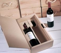 Gift box for two bottles