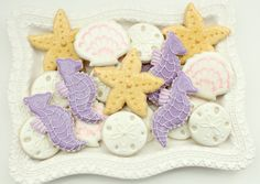 Sand Dollar, Seahorse, Starfish, and Seashell Cookies