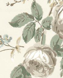 Tapet Roses & Hummingbirds Ivory/Sage från GP & J Baker