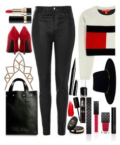 """street style"" by ecem1 ❤ liked on Polyvore featuring Yves Saint Laurent, Gucci, Tommy Hilfiger, Topshop, Dolce&Gabbana, Zimmermann, NYX, Essie, Marc Jacobs and Chicnova Fashion"