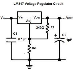 LM317 Schematic Diagram