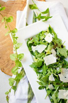 @Rocket and Parmesan Salad by Peony Lim.