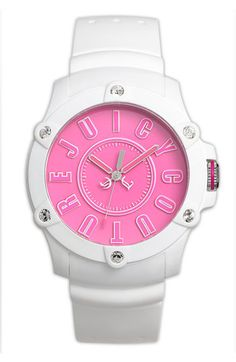 Juicy Couture 'Surfside' Round Dial Silicone Strap Watch available at #Nordstrom