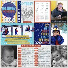 Project Life 2014 (Week 7, Day 4): Go Away Winter - Scrapbook.com