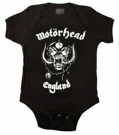 Kiditude - Motorhead Baby Bodysuit $18.95 Read more: http://www.kiditude.com/catalog/rock-baby-clothes/motorhead-baby-bodysuit-934.html