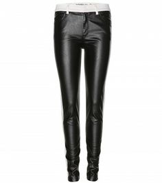 McQ Alexander McQueen - Faux leather-panelled skinny jeans  - mytheresa.com GmbH