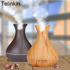 Cheap air humidifier, Buy Quality ultrasonic air humidifier directly from China aroma essential oil diffuser Suppliers: 400ml Aroma Essential Oil Diffuser Ultrasonic Air Humidifier with Wood Grain 7 Color Changing LED Lights for Office Home