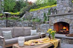 outdoor fireplace patio ideas - Google Search