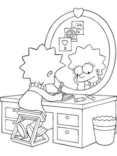 aprendendo a desenhar os simpsons - Simpsons Halloween Coloring Pages