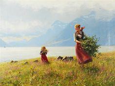 Летний день HEYERDAHL, Hans детали работы на Art Gallery Encyclopedia на Русском