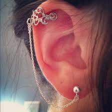 Silver Ear Cuff & Chain.