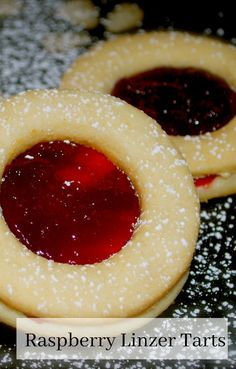 Raspberry Linzer Tarts are one of our favorite holiday treats made with two buttery cookies with tart raspberry preserves spread on the inside. Best Cookie Recipes, Sweet Recipes, Snack Recipes, Holiday Cookies, Holiday Treats, Christmas Treats, Christmas Parties, Holiday Foods, Holiday Baking