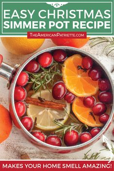 How to make an easy Christmas simmer pot - a delicious stove top potpourri for the holidays! Made with cinnamon, orange, spices, and pine branches, this will make your home smell absolutely amazing! #simmerpot #christmasdecor #cozychristmas #holidayideas Christmas Scents, Homemade Christmas, Simple Christmas, Christmas Diy, Christmas Parties, Christmas Recipes, Christmas Stockings, Xmas, Homemade Potpourri