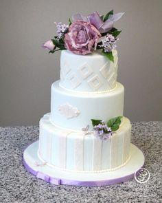 Wedding Cake by Lynn Moczynski made as part of The French Pastry School's L'Art du Gâteau program.