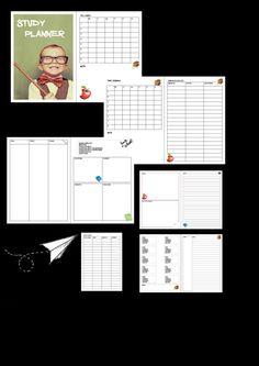 study refill a4 printable planner di Funnydreamsplanner su Etsy
