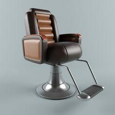 3D Barber Chair Model - 3D Model