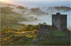 https://flic.kr/p/UK8pGw | Inversion at Dolwyddelan | An inversion at dawn at Dolwyddelan castle,North Wales.