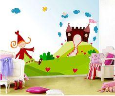 mural-princesa-con-castillo