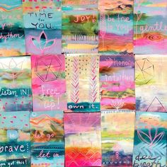 free up. Gift paintings by Flora Bowley for Bloom True workshop participants. Flora Bowley, Prayer Flags, Abstract Nature, Mini Paintings, Animal Drawings, Drawing Animals, Winter Landscape, Simple Art, Mandala Design