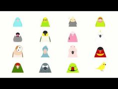 [PR] Animated Bird Stickers for iMessage: [link] Cockatiel, Budgerigar, Java Sparrow, Sun Conure, Blue-and-yellow Macaw Sizes: Five Birds - tori no iro Wallpaper Maker, Bird Wallpaper, Cockatiel, Budgies, Bird Illustration, Decorative Bells, Logos, Parrot, Owl