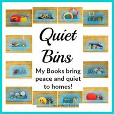 These simple Quiet boxes are brilliant! Such easy ideas with supplies you already have at home. Perfect Quiet time activities for toddlers and preschoolers and so much information on how EXACTLY to establish quiet time in our homes! Quiet Time Activities, Activities For 2 Year Olds, Kids Learning Activities, Infant Activities, Teaching Ideas, Calming Activities, Alphabet Activities, Motor Activities, Creative Activities