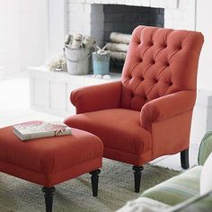Ordered 2 in A flax Linen. Great size...large, hard to find a tufted chair over 38 inches tall.