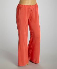 Look what I found on #zulily! Coral Palazzo Pants - Plus by Hadari #zulilyfinds