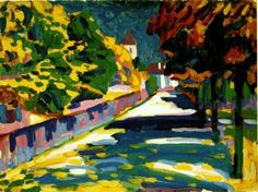 wassily kandinsky autumn in bavaria painting