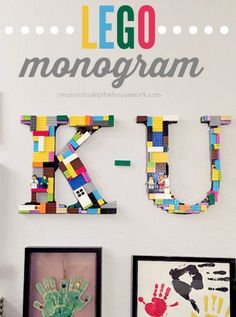Lego Monogram Letters - THIS IS A GREAT TUTORIAL - there are photos and how to, with tips and ideas - WONDERFUL and CUTE.