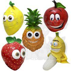 Latex Fruits Funncy Faces Comedy Apple Pineapple Grapes Banana Lemon Props Mask