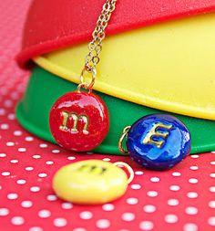 candy M Pendant Necklaces