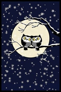 winter owls by dennisthebadger, via Flickr