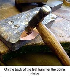 A Photo Tutorial on How To Make a Metal Leaf
