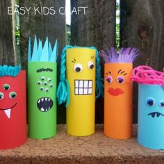 Halloween Crafts For Kids, Crafts For Kids To Make, Art For Kids, Paper Towel Roll Crafts, Toilet Paper Roll Crafts, Cardboard Crafts Kids, Toilet Roll Craft, Egg Carton Crafts, Dragon Crafts