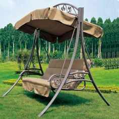 Luxury Loveseat Swing Hanging Chair for The House Garden Porch Swing With Canopy, Balcony Swing, Garden Swing Seat, Hanging Swing Chair, Outdoor Balcony, Pergola Swing, Pergola With Roof, Swinging Chair, Outdoor Chairs