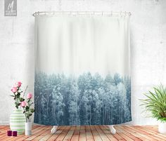 Decorate your bathroom with this beautiful, popular and unique shower curtain by HappyMelvin.  Shower curtains that feature the original photography and graphics by Ulf Härstedt aka. HappyMelvin. Almost all curtains are trying to capture the feel of adventure, wanderlust and the beauty of our nature. Trying to bring wanderlust into our homes with beautiful home decor.  - made from 100% polyester - printed in the USA - 12 button-hole top - easy care material allows for machine wash and dry…