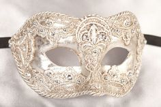 Luxury Mens Macrame Masks - Venetian Masks - COLOMBINA MAC