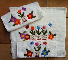 Jogo de toalhas para lavabo