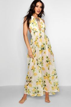 Click here to find out about the Faye Lemon Print Maxi Beach Dress from Boohoo, part of our latest Beachwear collection ready to shop online today!