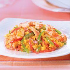 WeightWatchers.fr : recette Weight Watchers - Wok de riz façon paella